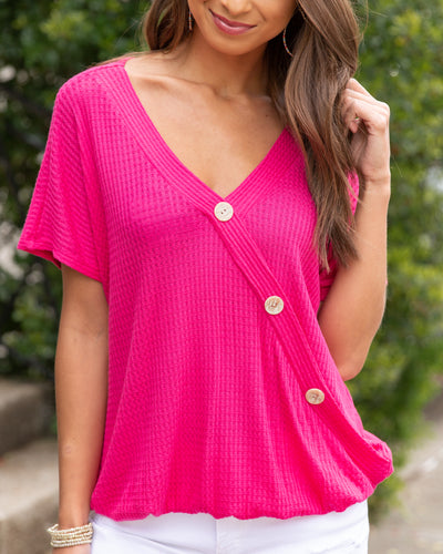 Matter Of Time Top - Fuchsia