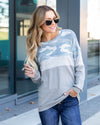 Matters Of The Heart Top - Grey
