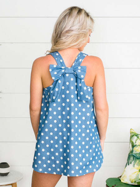 Defining Moment Dottie Tank - Chambray