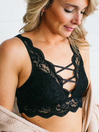 Linger Here Cutout Bralette - Multiple Colors