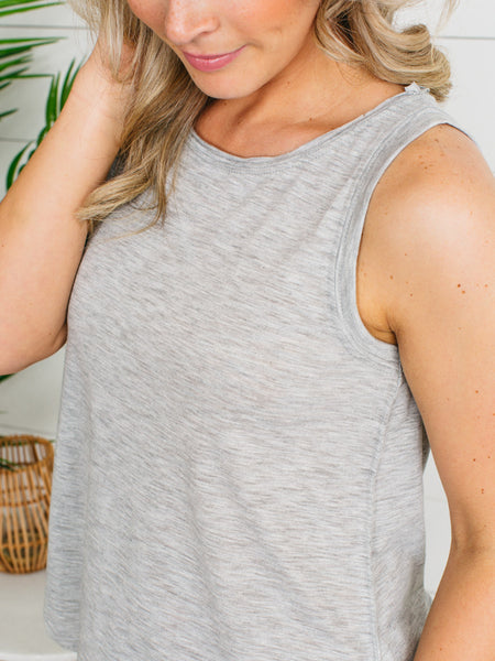 Cali Girl Everyday Tank - Lt. Grey