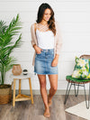 Addison Denim Skirt - Medium Wash