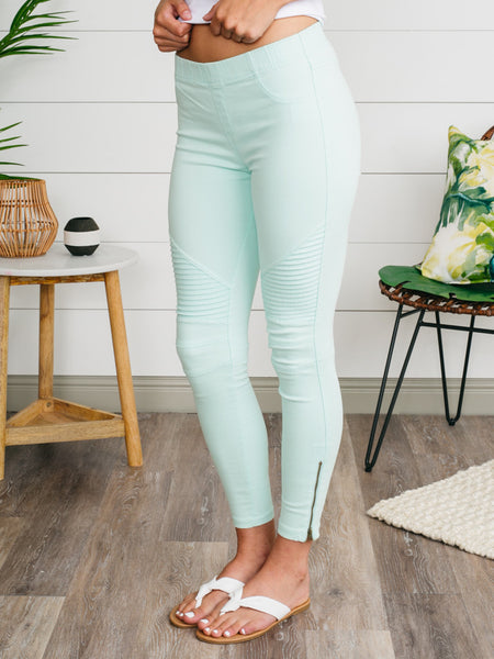 Marisa Moto Jeggings - Mint