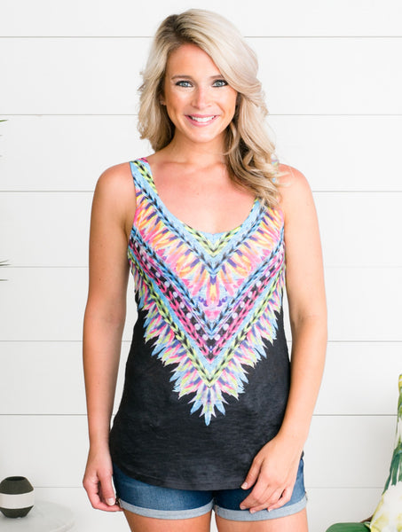 Freebird Feather Tank - Black