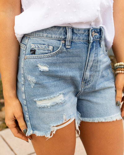 McKinnon Distressed Shorts - Medium Wash