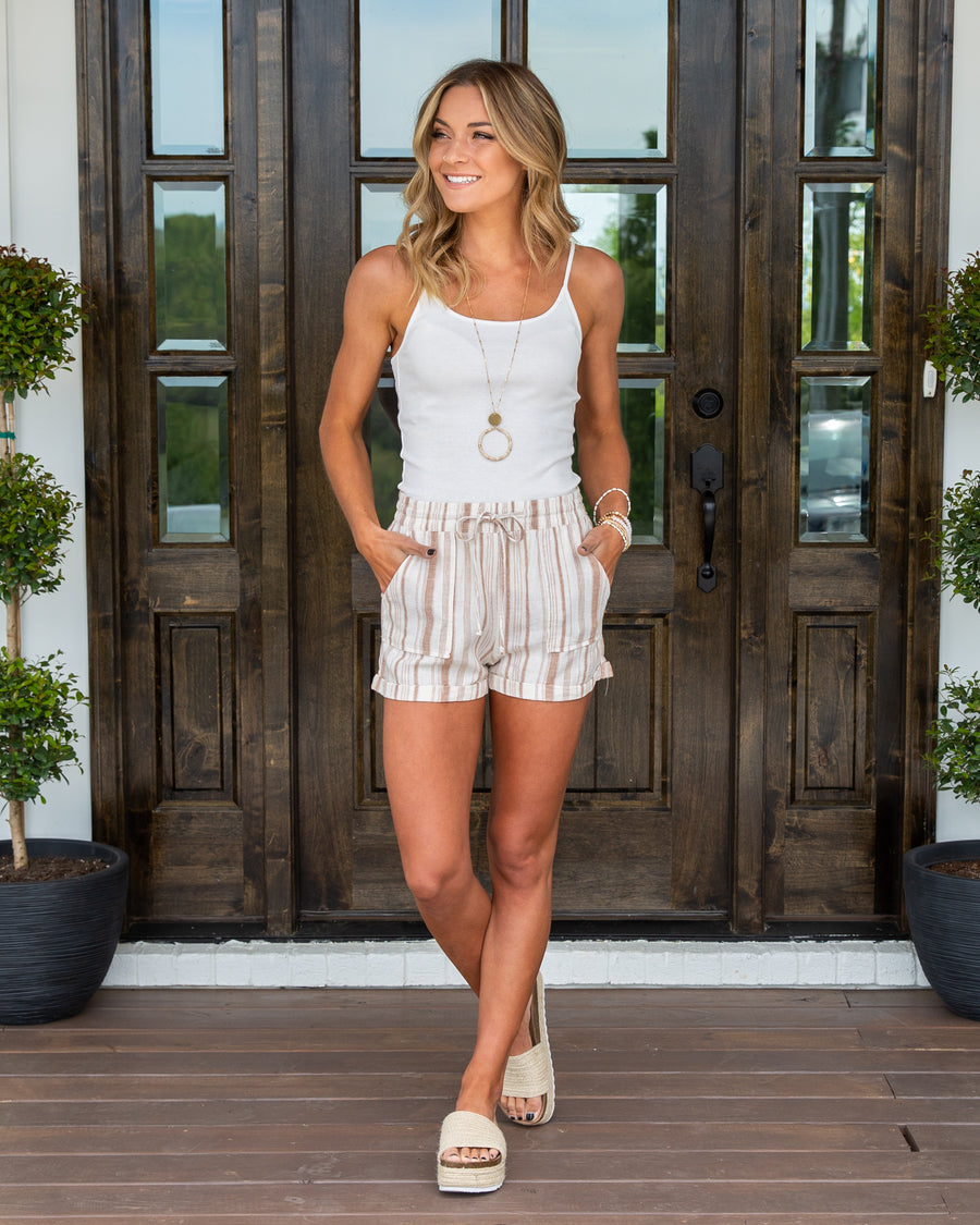 Meet Me At Sundown Shorts - Cream