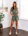 Meet You Anywhere Romper - Olive