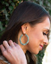 Meg Hoop Earrings - Green