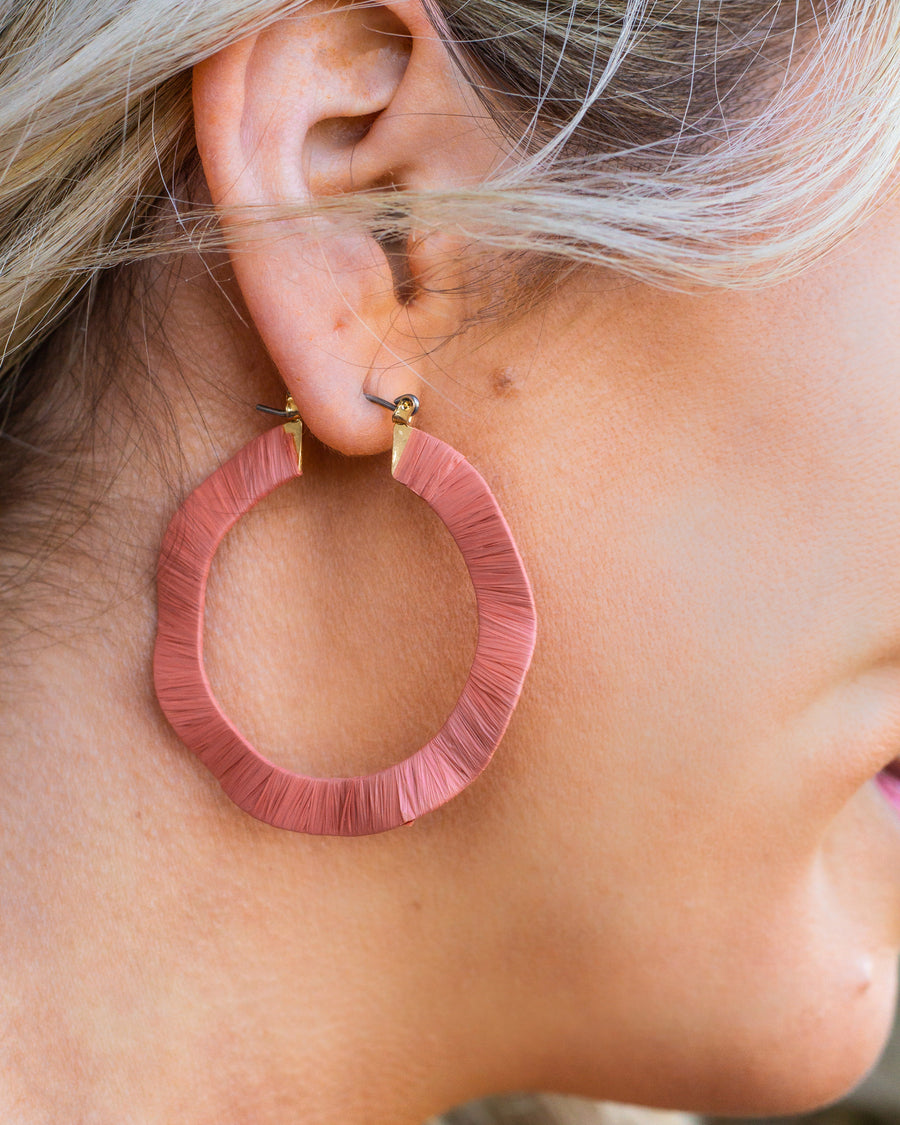Meg Hoop Earrings - Peony