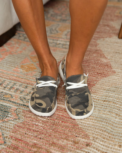 Mellie Slip On Sneakers - Camo