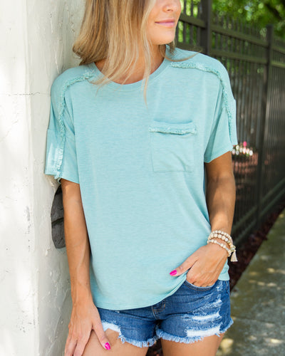 Mellow Morning Top - Seafoam Green