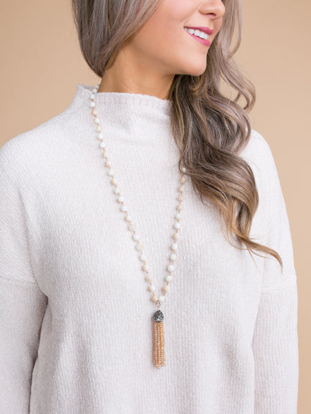 Melody Tassel Necklace - Ivory