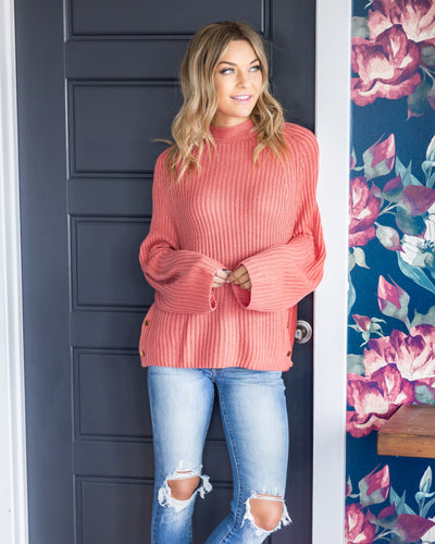 Memories Of You Sweater - Coral