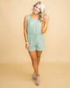 Memories In Malibu Romper - Sage