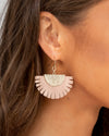 Michelle Earrings - Dusty Rose