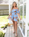 Midnight In Maui Romper - Light Blue