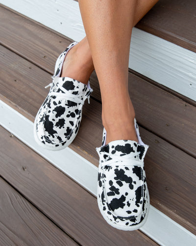 Milk It Slip On Sneakers - Cow Print