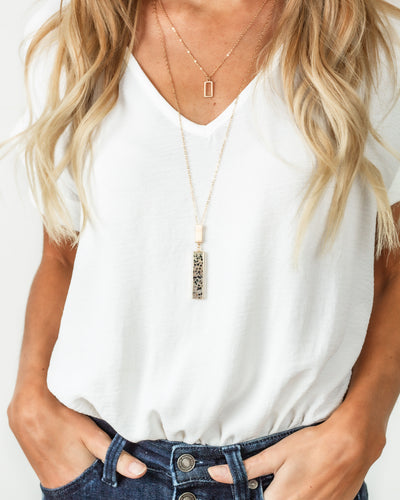 Mindy Layered Necklace - Tan