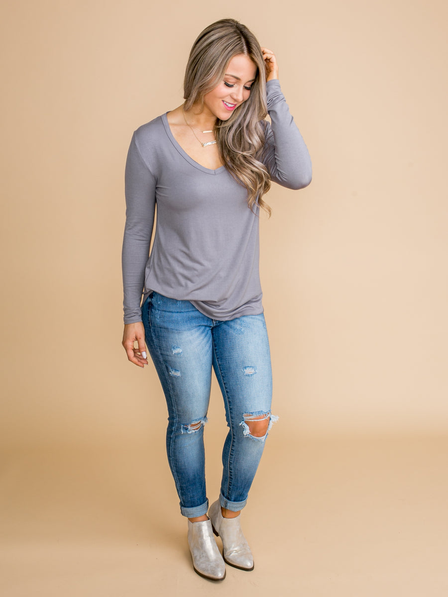 Modern Muse Top - Grey