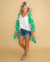Moment Of Zen Floral Kimono - Kelly Green