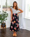 More Than A Feeling Floral Dress - Black
