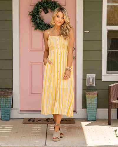 Must Be Fate Dress - Sunshine Yellow