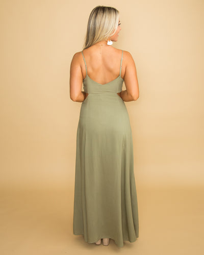 NYC For The Weekend Cutout Dress - Olive