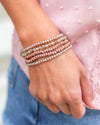 Natasha 5 Piece Stackable Bracelet - Pink