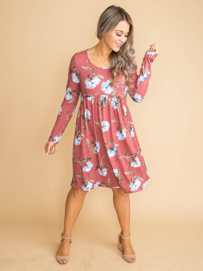Need To Know Floral Dress - Rose
