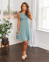 Never Late For Love Dress - Sage