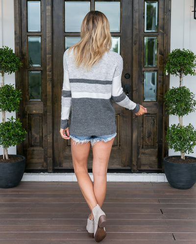 Never Too Late Sweater - Grey