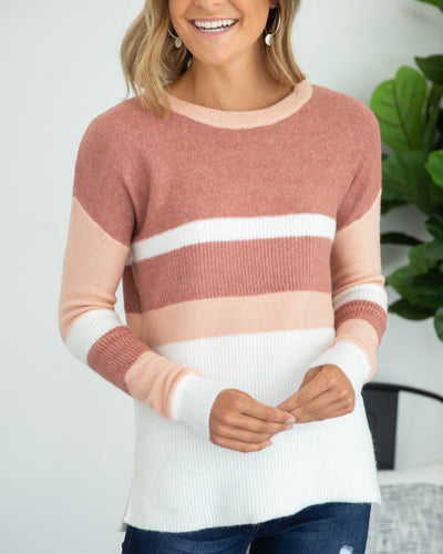 Never Too Late Sweater - Mauve