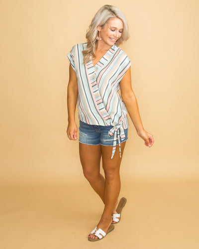Never A Dull Moment Knot Top - Multi
