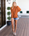 New Horizons Sweater - Burnt Orange