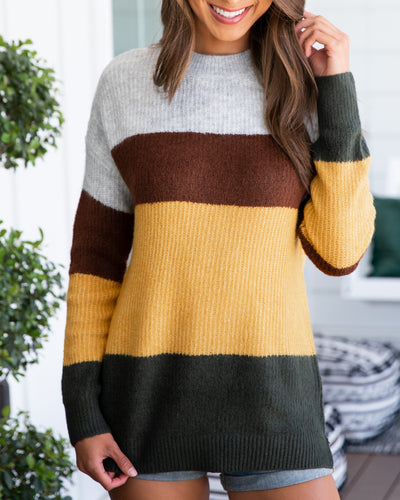 Nights By The Bonfire Sweater - Multi