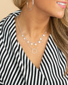 Nina 2 Tiered Circle Necklace - Silver