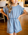No Place Like Home Romper - Chambray