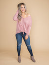 No Excuses Knot Top - Dusty Rose