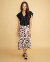 No Hesitations Leopard Skirt - Cream