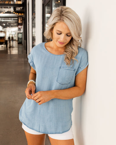 No Ordinary Girl Top - Denim