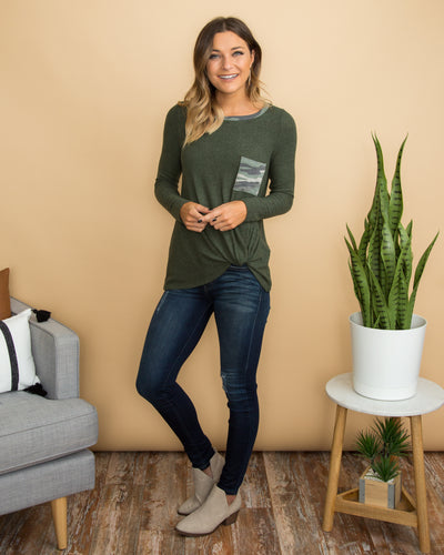 No Turning Back Top - Olive