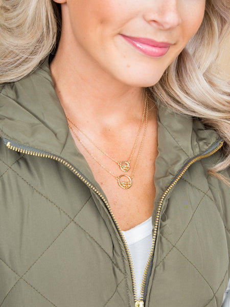 Nola 2-in-1 Necklace - Gold