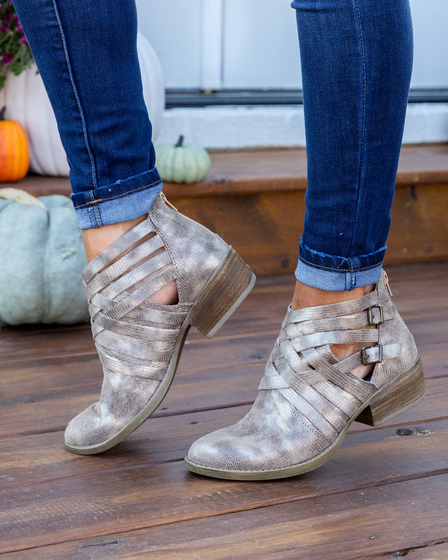Not Rated Campbell Booties - Gold