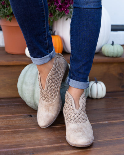 Not Rated Rowan Booties - Taupe