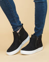 Not Rated Allison Side Zip Slip Ons - Black