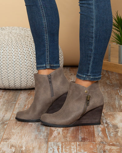 Not Rated Charlie Booties - Taupe
