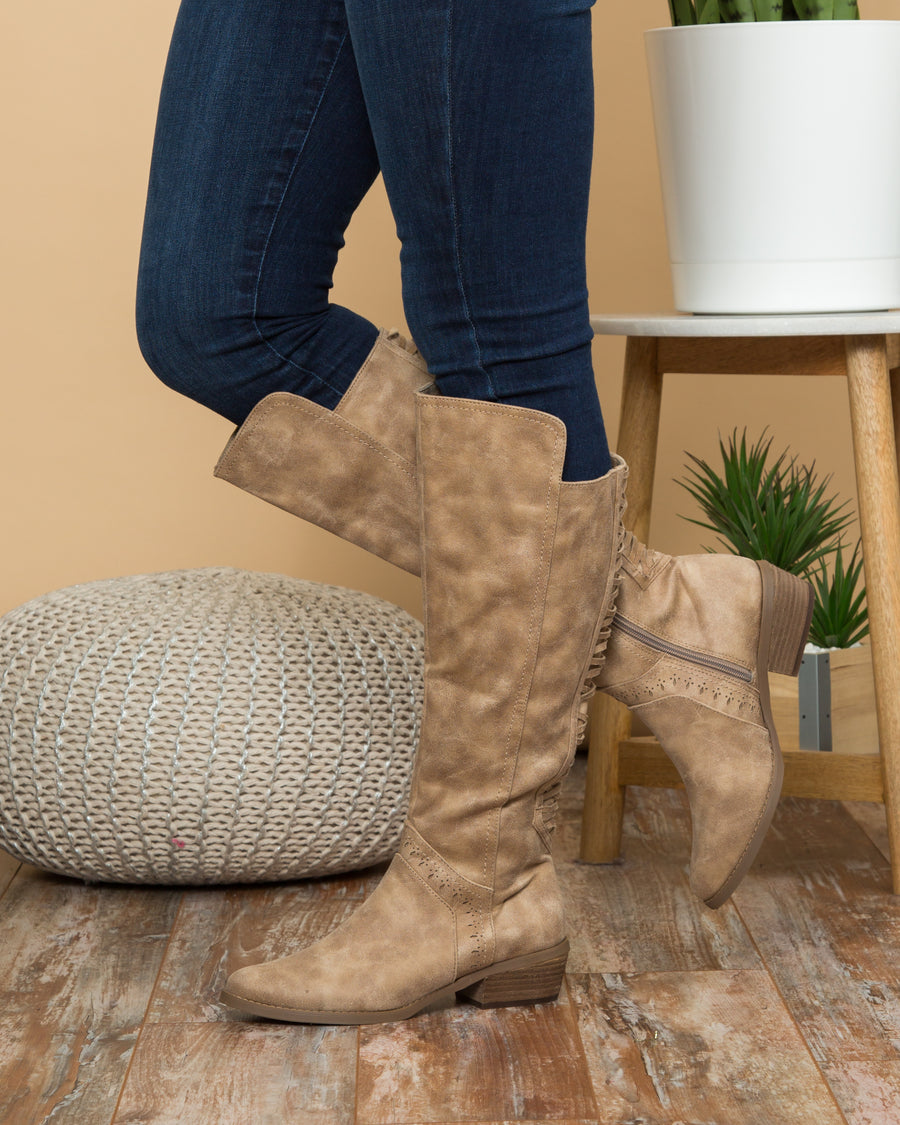 Not Rated Flora Boots - Taupe