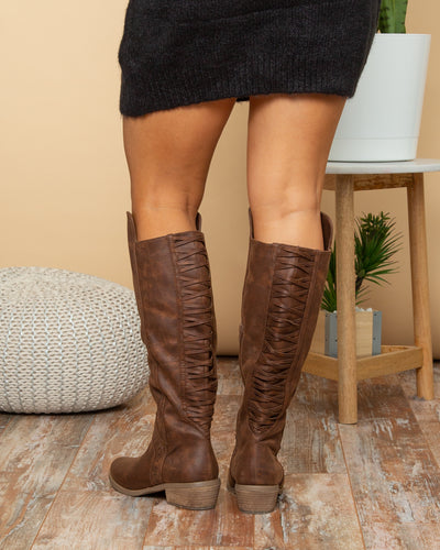 Not Rated Flora Boots - Walnut