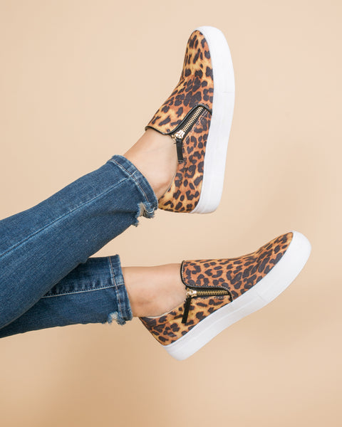 Not Rated Heidi Slip Ons - Leopard