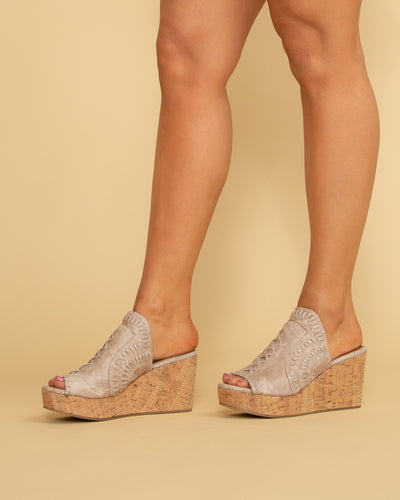 Not Rated Jillian Slip On Wedge - Taupe